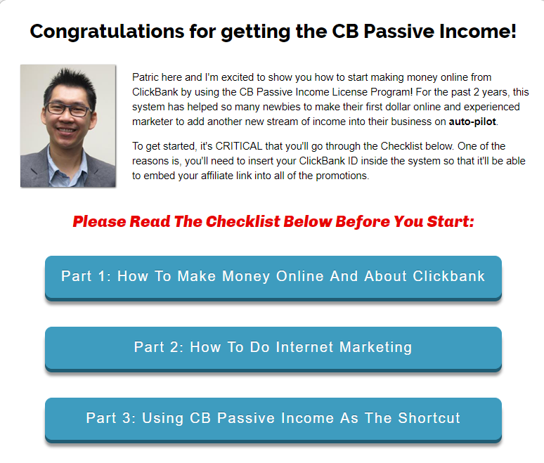 cb passive income review 2018